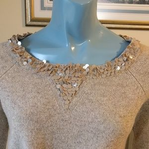 J. Crew Sweaters - Oatmeal Sequined Wool Sweater